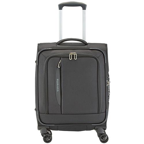 Черный чемодан 55x39х20см Travelite Crosslite маленького размера, фото