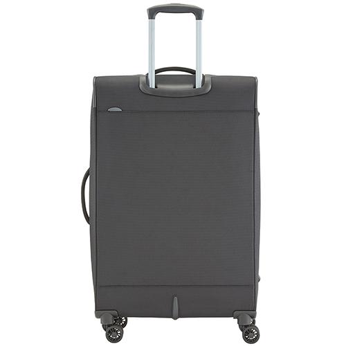 Большой чемодан 77x47х30-34см Travelite Crosslite черного цвета на 4х колесах, фото