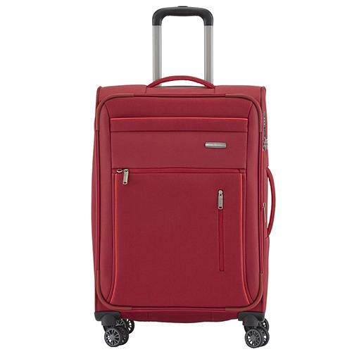 Красный дорожный чемодан 66x42x26-30см Travelite Capri с функцией расширения, фото