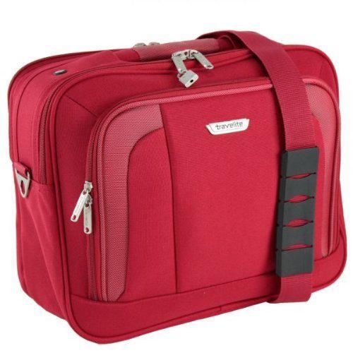 Набор чемоданов красного цвета Travelite Orlando с сумкой, фото