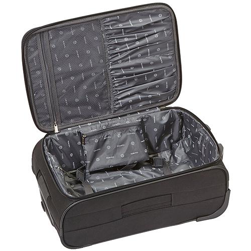 Маленький черный чемодан 53x37х20см Travelite Orlando выполнен из текстиля, фото