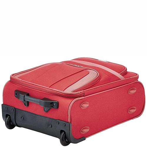 Чемодан маленького размера 53x37х20см Travelite Orlando красного цвета, фото