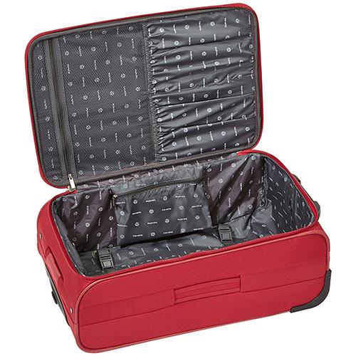 Текстильный чемодан 69x46x27см Travelite Orlando красного цвета на молнии, фото