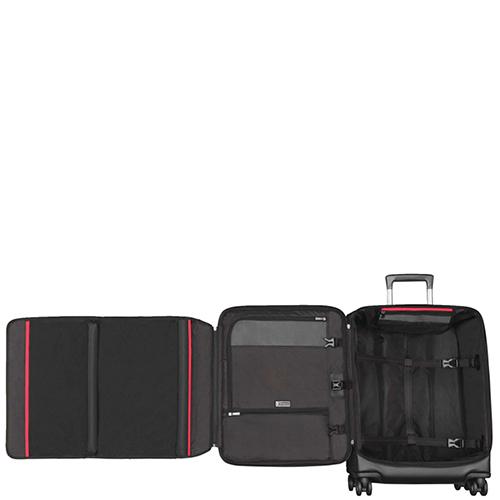 Среднего размера черный чемодан 63х42х30см Victorinox Vx One на молнии, фото