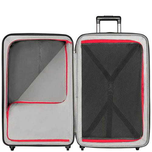 Большой черный чемодан 75х47х31-35см Victorinox Etherius с функцией расширения, фото