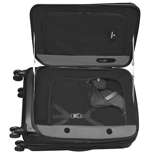 Черный чемодан 69х45х30-41см Victorinox Spectra 2.0 Expandable среднего размера, фото