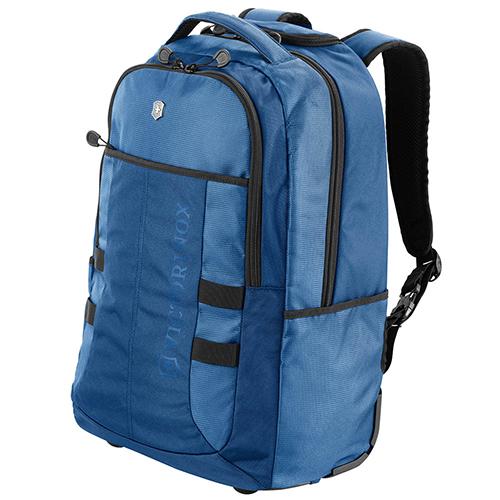 Синий рюкзак на колесах Victorinox Vx Sport Wheeled Cadet из текстиля, фото