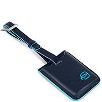 Бирка-трекер Piquadro Bl Square синего цвета, фото