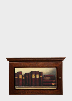 Ключница Decor Toscana Книги 21х34х7см с рисунком книжной полки , фото