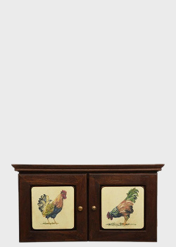 Настенная ключница Decor Toscana Петушки 29х30см коричневого цвета, фото