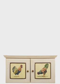 Настенная ключница Decor Toscana Петушки 29х30см с рисунком петуха, фото