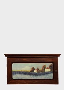 Ключница Decor Toscana Лавандовое поле 20х34см с пейзажным рисунком , фото