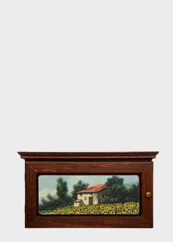 Ключница Decor Toscana Дома и подсолнухи 35х19х7см из дерева, фото