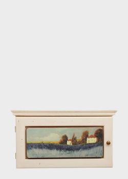 Ключница Decor Toscana Лавандовое поле 20х34см белого цвета, фото