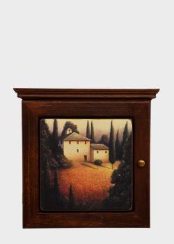 Настенная ключница Decor Toscana Пейзажи Тосканы 25х25см , фото