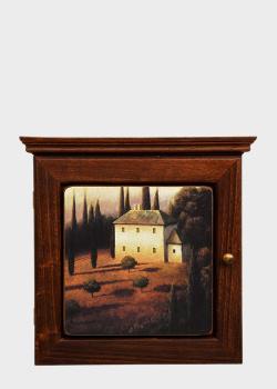 Ключница Decor Toscana Пейзажи Тосканы 25х25см в осенней тематике , фото