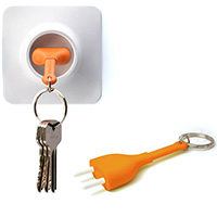 Ключница настенная Qualy Unplug с брелком для ключей, фото