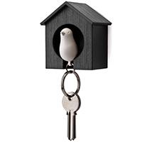 Настенная ключница с брелоком-свистком Qualy Sparrow, фото