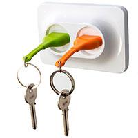 Настенная ключница Qualy Розетки с двумя брелоками, фото