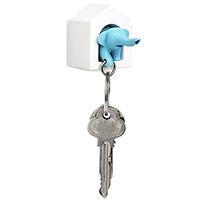 Настенная ключница Qualy Elephant с брелком-слоником, фото