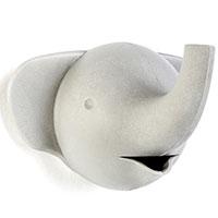 Настенный крючок Qualy Elephant серый слон, фото