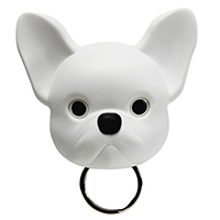 Ключница настенная Qualy Frenchy Dog белая собака, фото