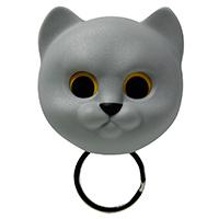 Ключница настенная Qualy Neko Cat серый кот, фото