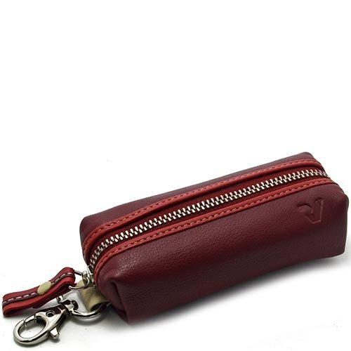 Ключница Roncato Candy красного цвета с карабином, фото