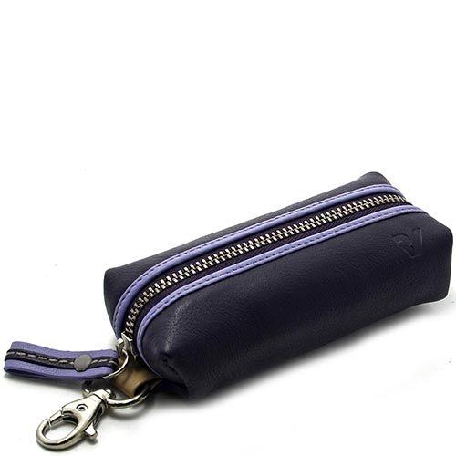 Ключница Roncato Candy фиолетового цвета с двумя кольцами для ключей, фото