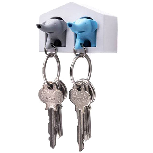 Ключница с брелками для ключей Qualy Duo Elephant, фото