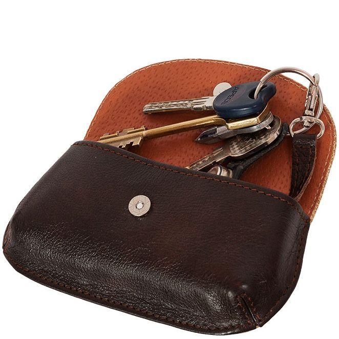 Футляр Unique U Пейсли коричневый для ключей