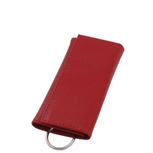 Футляр для ключей Avanzo Daziaro Business Linea из красной кожи