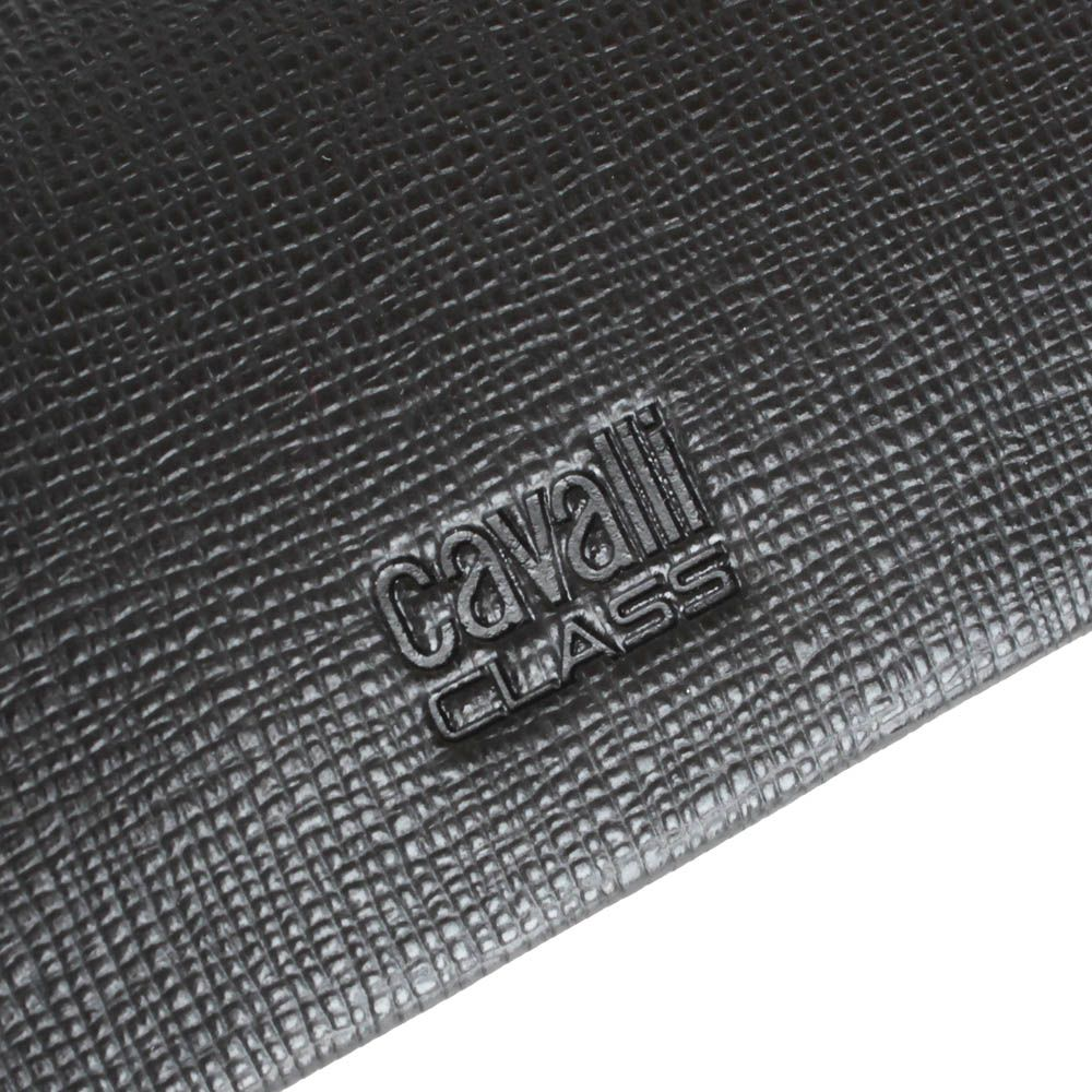 Ключница Cavalli Class Astoria темно-коричневого цвета из кожи фактуры сафьян на 6 ключей