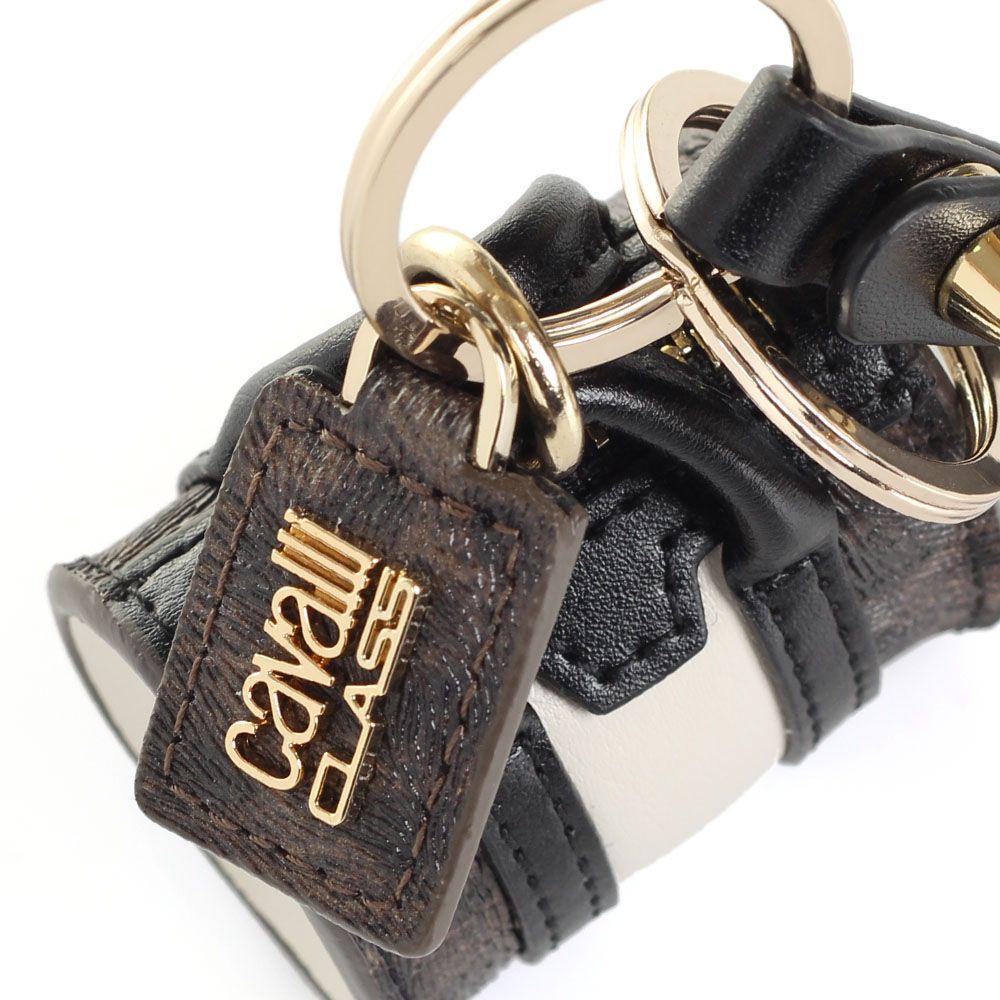 Брелок Cavalli Class в форме сумочки с леопардовыми вставками