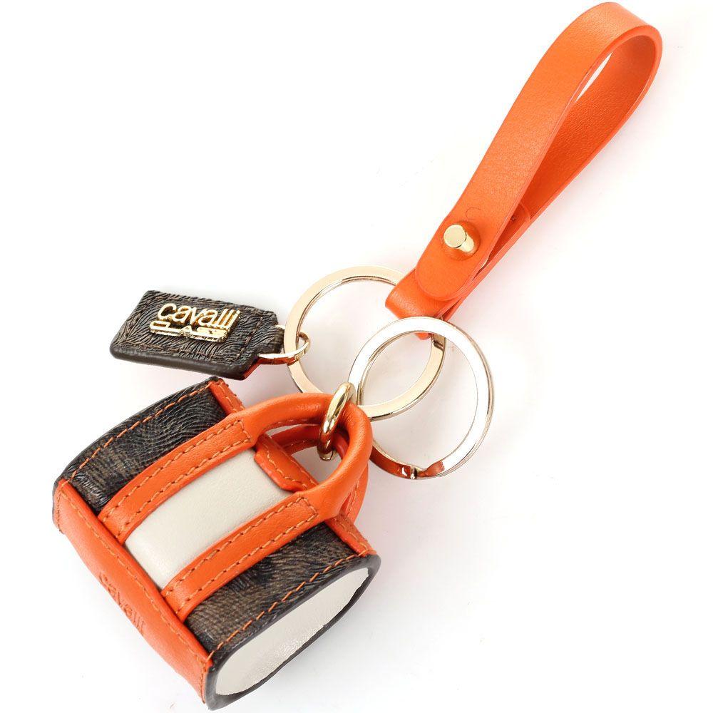 Брелок-сумочка Cavalli Class оранжевого цвета
