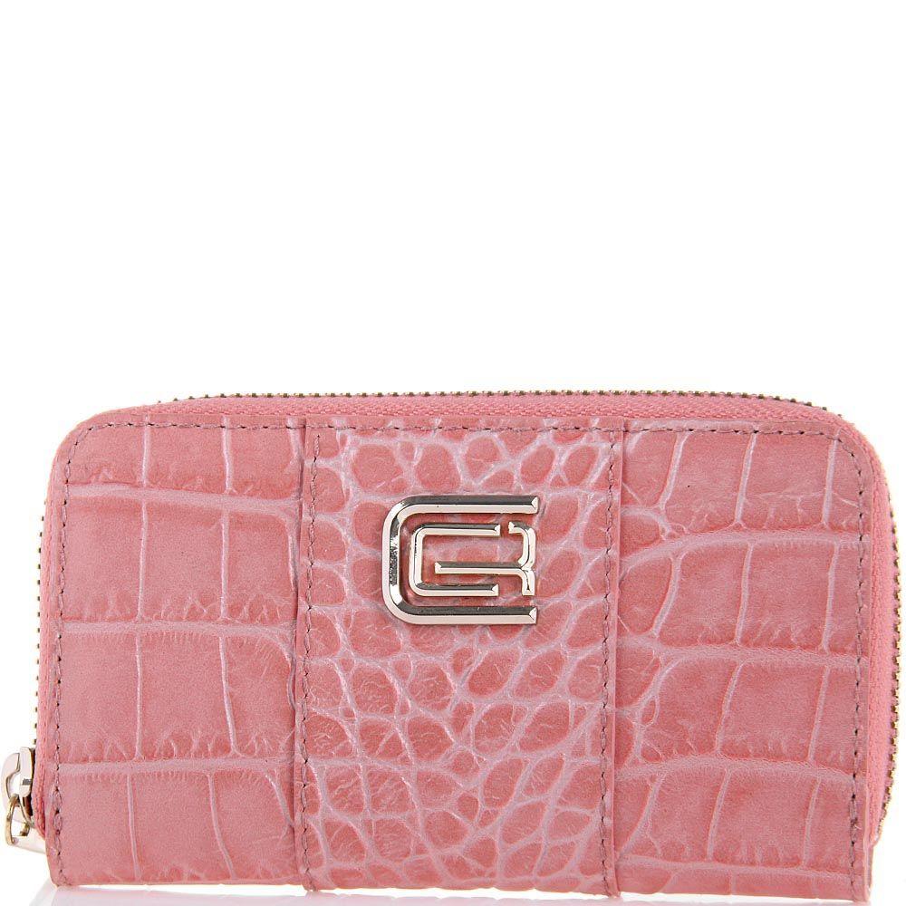 Ключница Cavalli Class Keira кожаная розовая на молнии