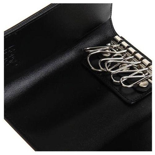 Ключница Montblanc кожаная черная