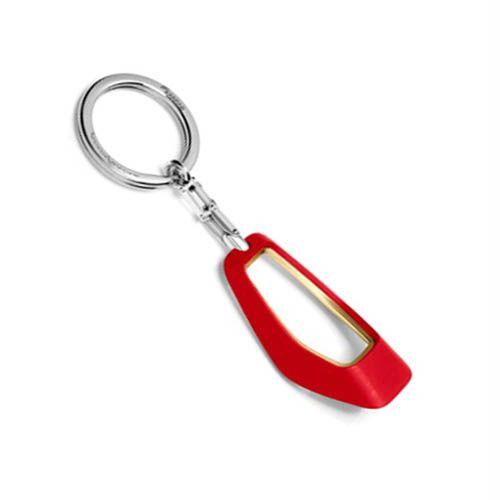 Брелок Baraka by Pininfarina красного цвета из полированной нержавеющей стали