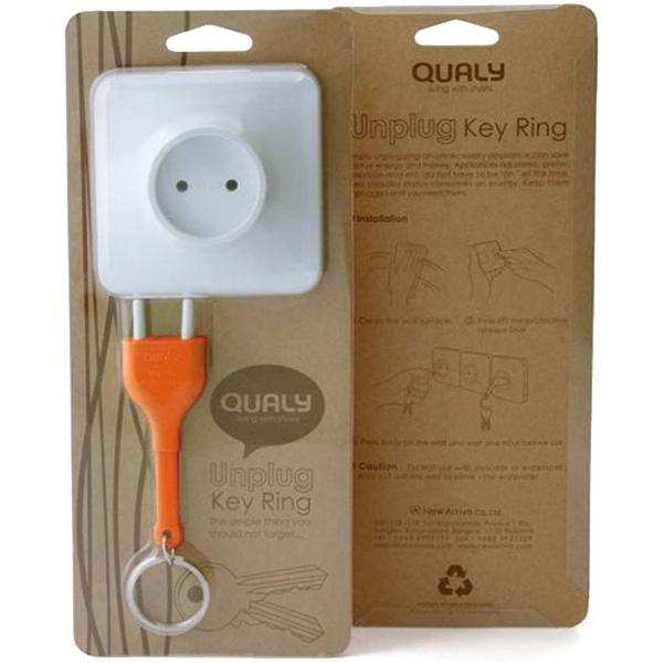Ключница настенная Qualy Unplug с брелком для ключей