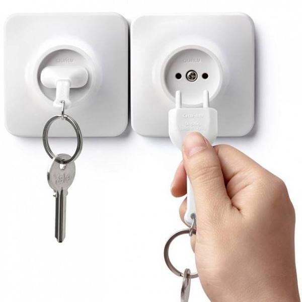 Держатель с брелоком для ключей Qualy Unplug