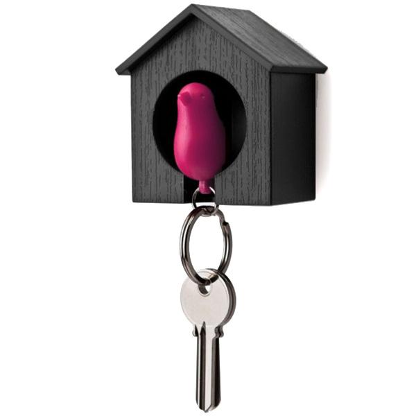 Ключница-скворечник Qualy Sparrow с брелком для ключей