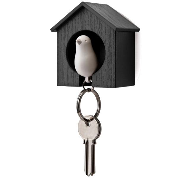 Настенная ключница с брелоком-свистком Qualy Sparrow