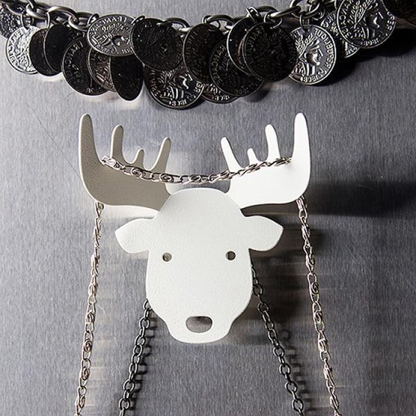 Держатель для ключей Qualy Moose белого цвета