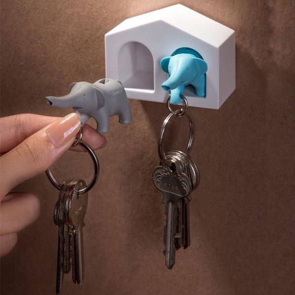Ключница с брелками для ключей Qualy Duo Elephant