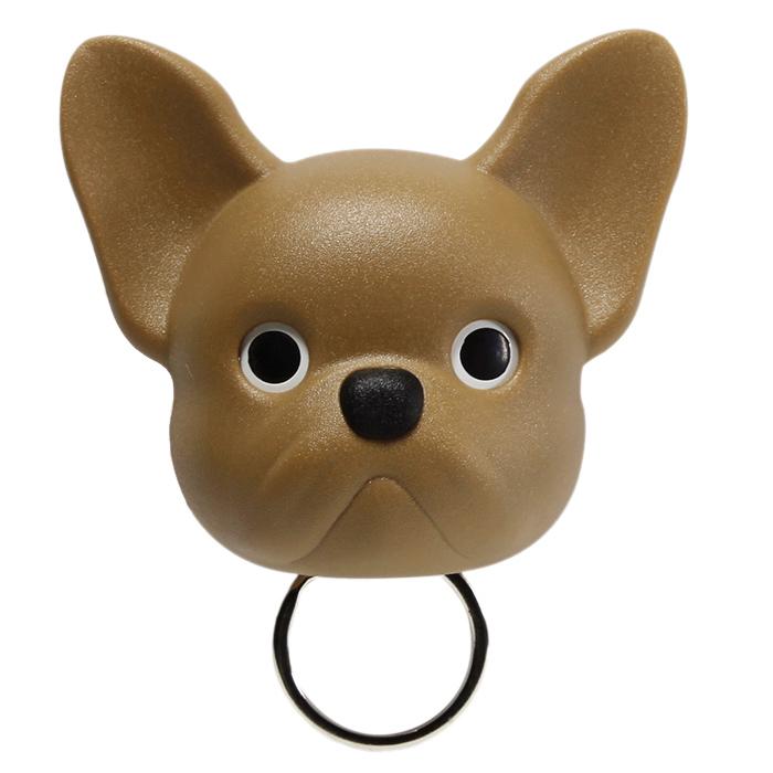 Ключница настенная Qualy Frenchy Dog коричневая собака