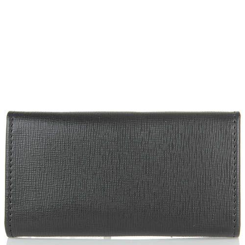 Ключница Cavalli Class Astoria черного цвета из кожи фактуры сафьян на 6 ключей, фото