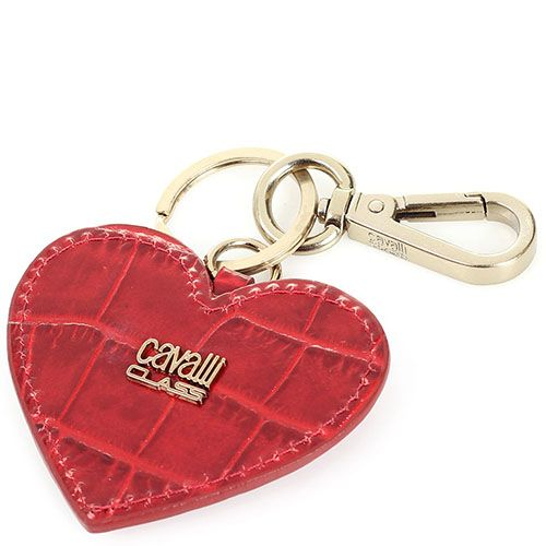 Брелок Cavalli Class красного цвета в форме сердца, фото