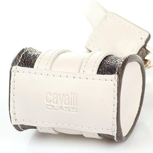 Брелок в форме сумочки Cavalli Class белого цвета, фото