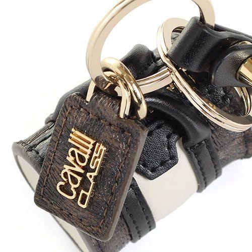 Брелок Cavalli Class в форме сумочки с леопардовыми вставками, фото
