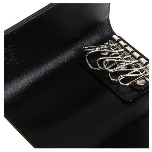 Ключница Montblanc кожаная черная, фото